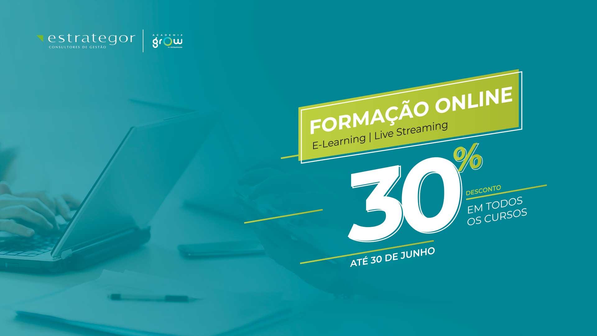 Academia Grow lança campanha com 30% Desconto em todos os cursos online
